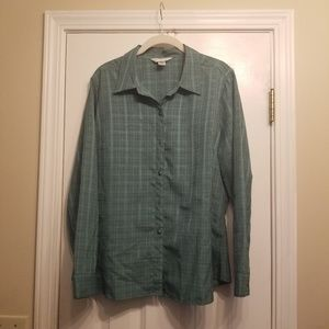 EUC Large Christopher & Banks Button down
